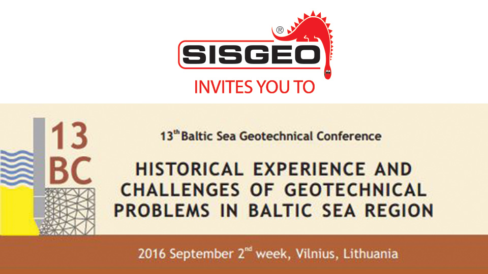 Sisgeo invites you to the 13th Baltic Sea Region Geotechnical Conference