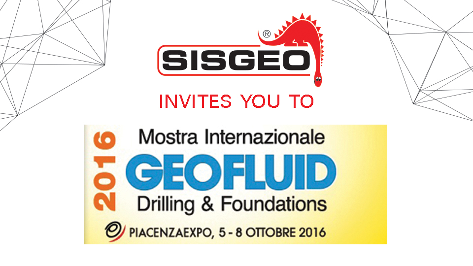 "Sisgeo invites you to ""Geofluid 2016, drilling and foundation"""