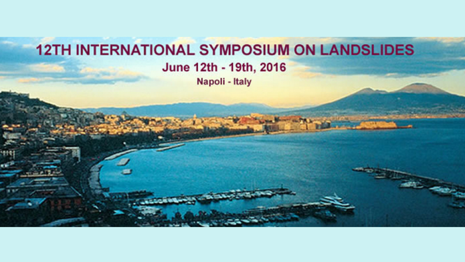 Sisgeo invites you to the 12th International Symposium on Landslides in Naples