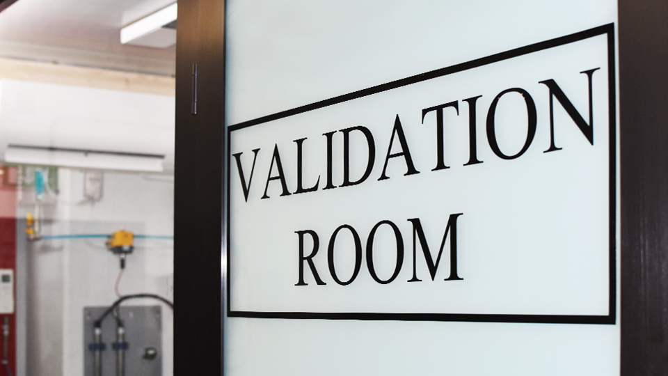 Sensors Validation Room
