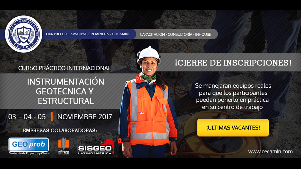 "Sisgeo Latinoamerica will take part to the ""CURSO INTERNACIONAL PRACTICO: INSTRUMENTACION GEOTECNICA ESTRUCTURAL"", Lima – Perù"