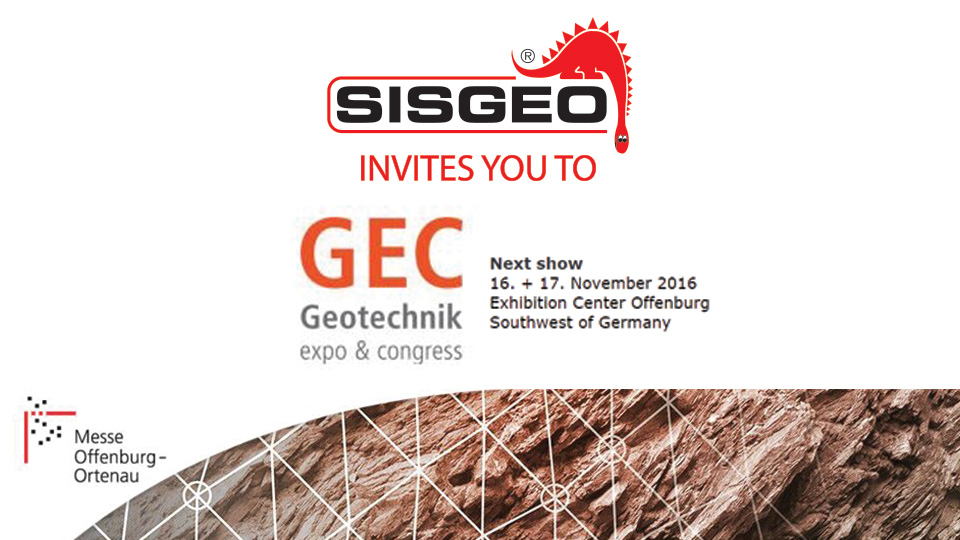 Sisgeo invites you to the GEC Geotechnics - expo & congress in Offenburg