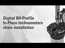Sisgeo Digital BH-Profile In-Place Inclinometers chain installation at the AGH University of Science and Technology Stanisław Staszic in Krakow