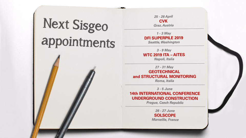Come and visit us! Sisgeo next appointments