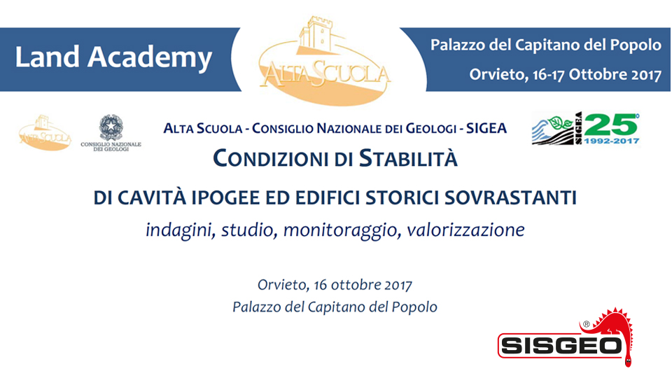 "Sisgeo partecipates to the ""DAYS OF THE GROUND - STUDY AND MONITORING"""