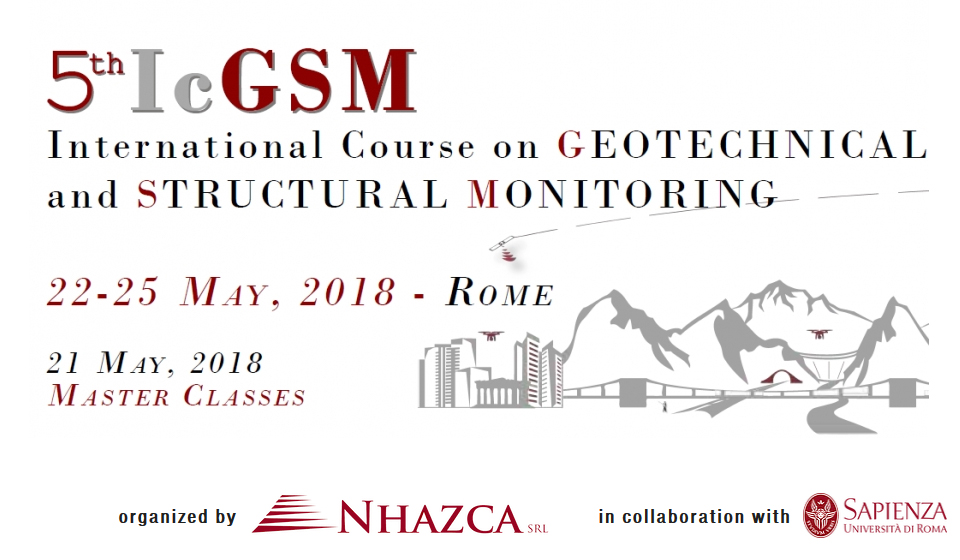 Sisgeo will attend the V The International Course on Geotechnical and Structural Monitoring in Rome