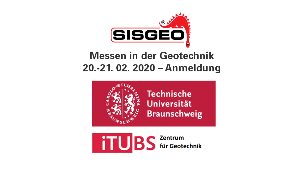 Sisgeo will be present at the Messen in der Geotechnik organised by the TU-Baunschweig.