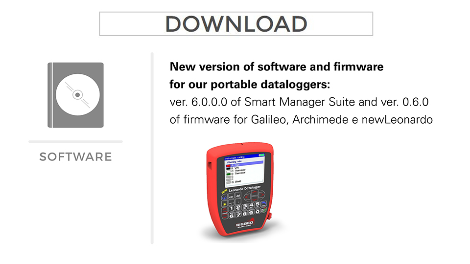 Sisgeo new software version for our portable dataloggers
